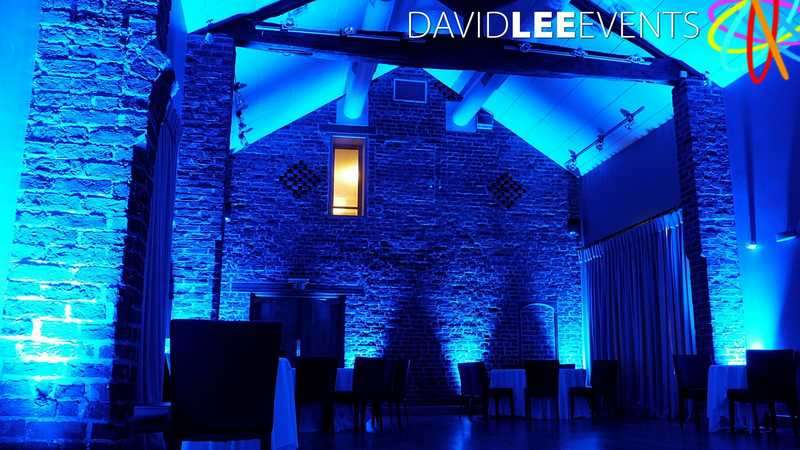 Blue Uplighting Arley Hall Cheshire
