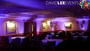 Uplighting in Purple at Dukinfield Golf Club