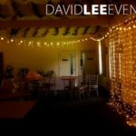 Warm White Fairy Light Naked Backdrop and Festoons