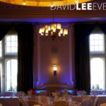 Uplighting for wedding breakfast