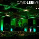 Light wall paper for venue theming